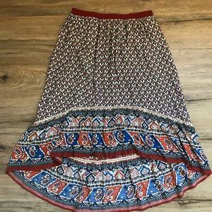 HAYDEN High Low Printer Skirt